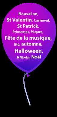 ballon-violet
